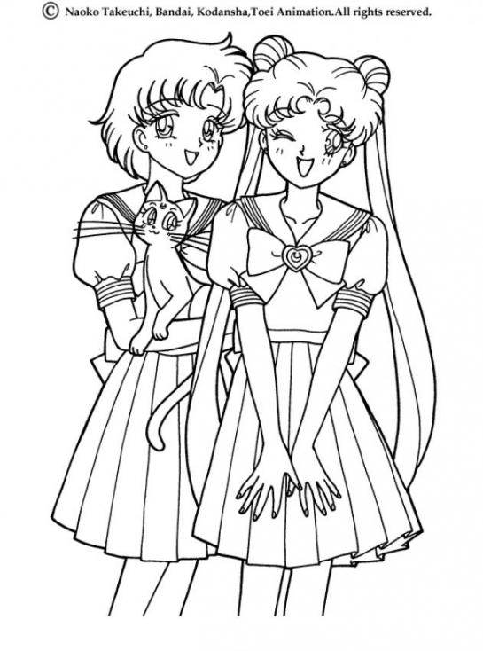 Princesse Serenity et Mercury