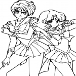 Sailor Mercury et Neptune